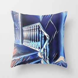 Eerie Paranormal Staircase Throw Pillow