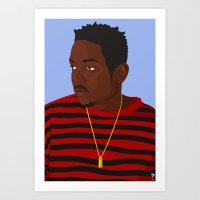 kendrick lamar Art Prints featuring Kendrick Lamar by KeithSquirrel