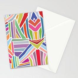 Retro Rainbow Pattern Stationery Cards
