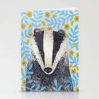 british Stationery Cards featuring British Badger by stephanie cole DESIGN