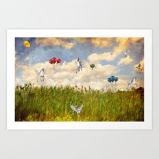 Pegasus and Balloons Art Print