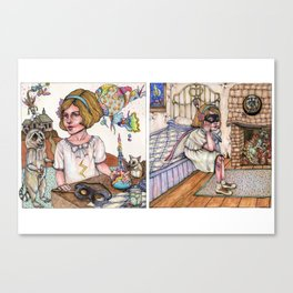 Looting the Countryside/To the Victor go the Spoils Canvas Print