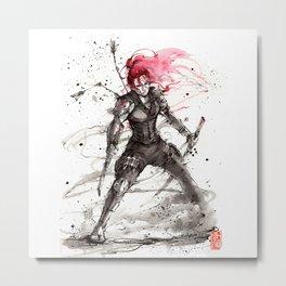 Redhead Ninja! Metal Print