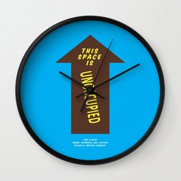Howlin' Mad Murdock's 'Unoccupied Space' shirt Wall Clock