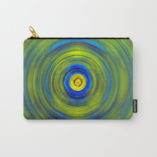 Vivid Green and Blue Swirl Carry-All Pouch