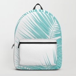 Soft Turquoise Palm Leaves Dream - Cali Summer Vibes #1 #tropical #decor #art #society6 Backpack