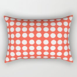 milk glass polka dots fiesta red Rectangular Pillow