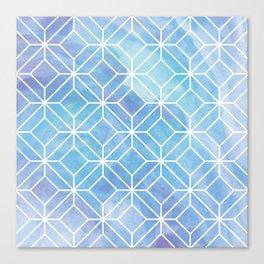 Geometric Crystals: Mermaid Galaxy Canvas Print