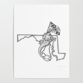 Maryland Mermaid Poster