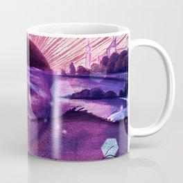 Black Sun Alchemy, Antique Alchemy Illustration Collage Coffee Mug