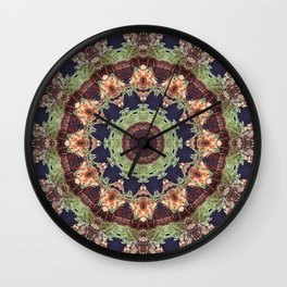 Mill 2 Kaleidoscope Mandala Fractal Chakra earth colors Wall Clock