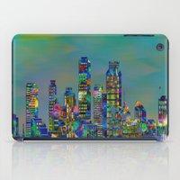 karu kara iPad Cases featuring Graffiti City by Klara Acel