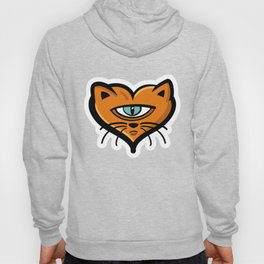 One eye cat heart Hoody