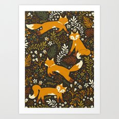 Fox Tales Art Print