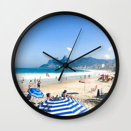 Sunny day in Rio Wall Clock