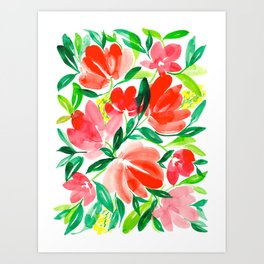 Floral Bouget P3 Art Print