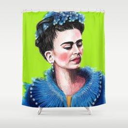 Frida Green Shower Curtain