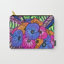 Colourful Flowers and Leaves Carry-All Pouch