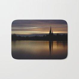 Lichfield Cathedral Sunset Reflection Bath Mat