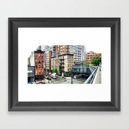 The High Line Street View Framed Art Print
