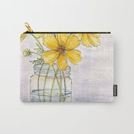 Yellow Cosmos, Still Life Carry-All Pouch