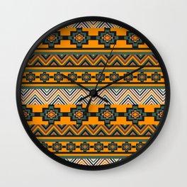 Brown rustic decor Wall Clock