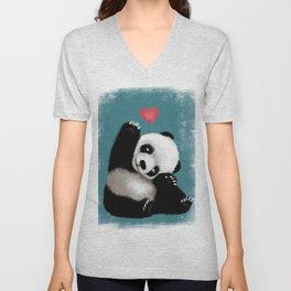 Panda Love (Color) Unisex V-Neck