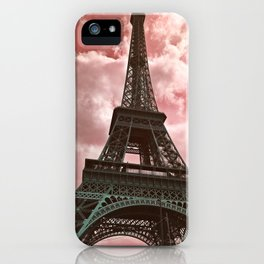 The Eiffel Tower in Pink iPhone Case