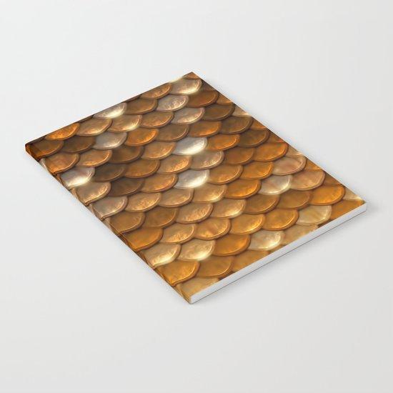 Gold glitter mermaid sparkling scales - Mermaidscales Notebook