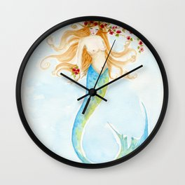 The Rose Mermaid Wall Clock