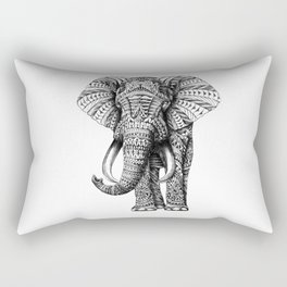 Ornate Elephant Rectangular Pillow