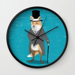 19th century fox Wall Clock