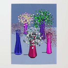 Cascade Flowers Poster