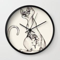 Cats with Tats v.1 Wall Clock