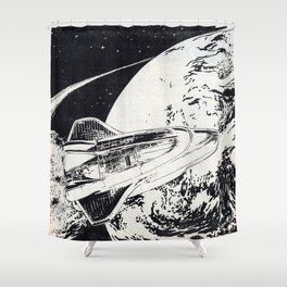 s l i n g s h o t  Shower Curtain