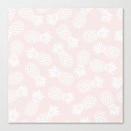 Pineapple pattern on pink 022 Canvas Print