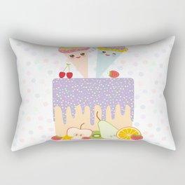 I love you Card design - Birthday, valentine's day, wedding, engagement. Sweet cake,  Kawaii Rectangular Pillow
