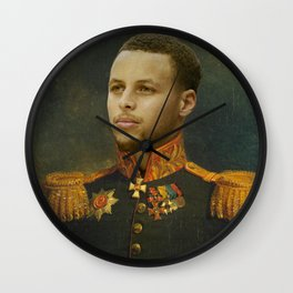 Steph Curry Classical Painting Wall Clock