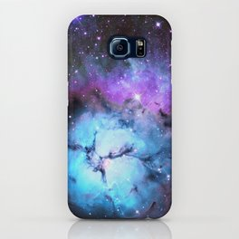 Blue Floral Nebula iPhone Case
