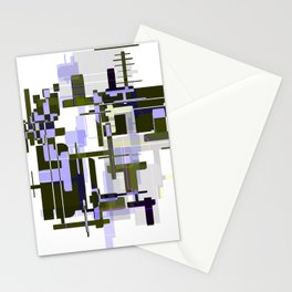 Abstract Seaweed Purple Design Stationery Cards