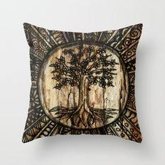 Tree Pattern Throw Pillow