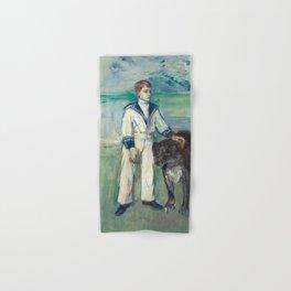 """Henri de Toulouse-Lautrec """"L'Enfant au chien, fils de Madame Marthe et la chienne Pamela-Taussat"""" Hand & Bath Towel"""