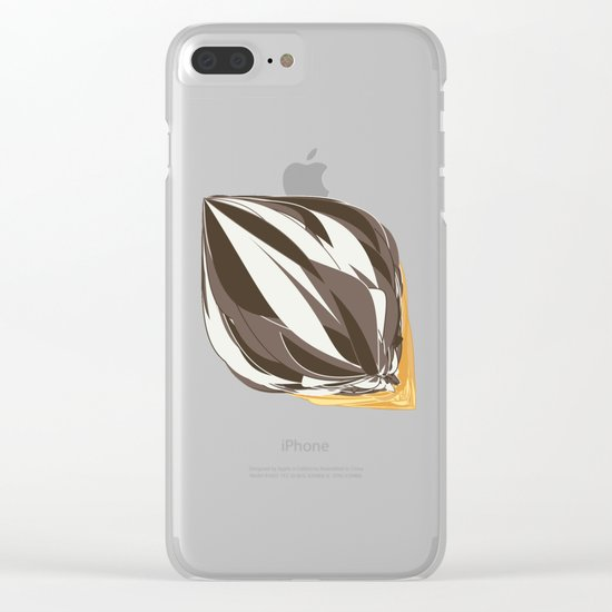 Chocolate Icecream Clear iPhone Case