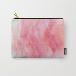 Red Marble Texture Carry-All Pouch