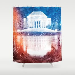 Jefferson Memorial - Vibrant Acrylic Fantasy Shower Curtain