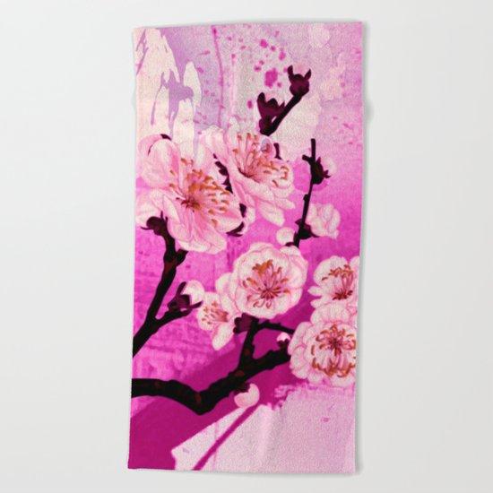 fleur de pommier Beach Towel