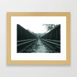 BTTF III Runway Framed Art Print