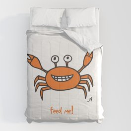Mr and Mrs Crabby Amanya Design White Single FEED ME! Comforters