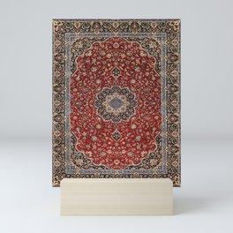N63 - Red Heritage Oriental Traditional Moroccan Style Artwork Mini Art Print