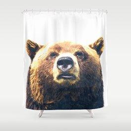 Bear portrait Shower Curtain